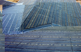 RoofHeat deicing system being installed on roof valleys.