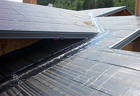 RoofHeat system being installed.
